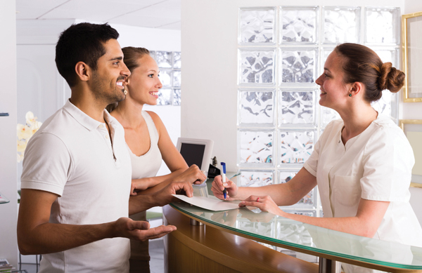couple at front desk